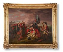 AFTER BENJAMIN WEST, DEATH OF GENERAL WOLFE ON THE HEIGHTS OF ABRAHAM
