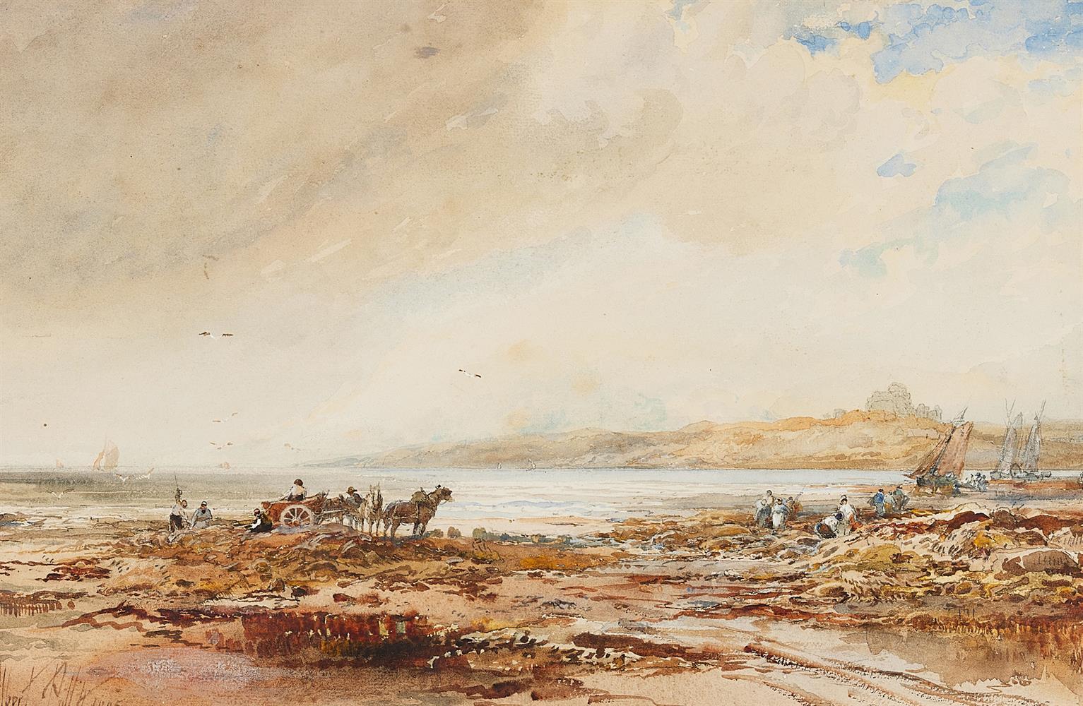 ALBERT POLLITT (BRITISH 1856-1926), KELP GATHERING - Image 2 of 2
