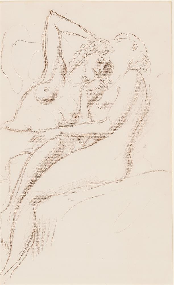 λ AUGUSTUS JOHN (BRITISH 1878-1961), TWO FEMALE NUDES - Image 2 of 3