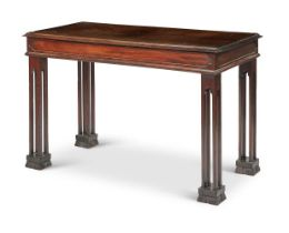 Y A GEORGE III STYLE MAHOGANY CENTRE TABLE