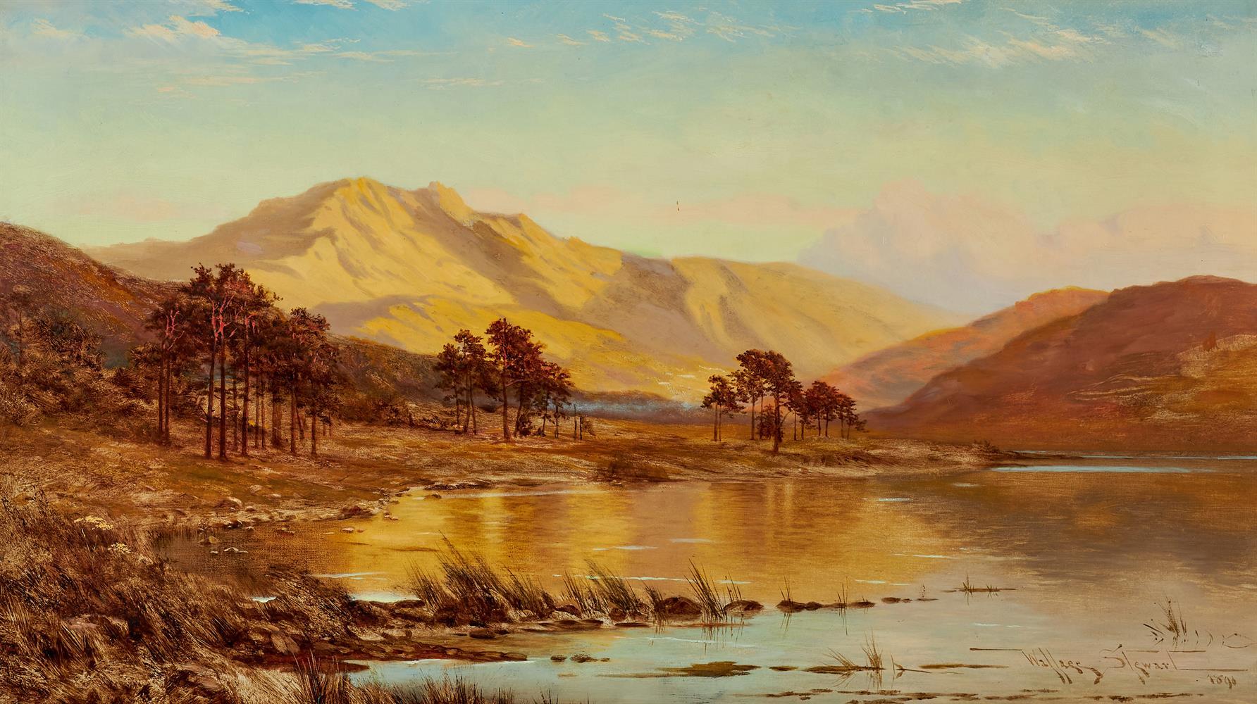 WALLACE STEWART (19TH CENTURY), HIGHLAND LOCH - Image 2 of 2