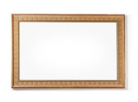 A REGENCY STYLE GILTWOOD PICTURE FRAME WALL MIRROR