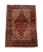 AN ISFAHAN RUG, approximately 209 x 142cm