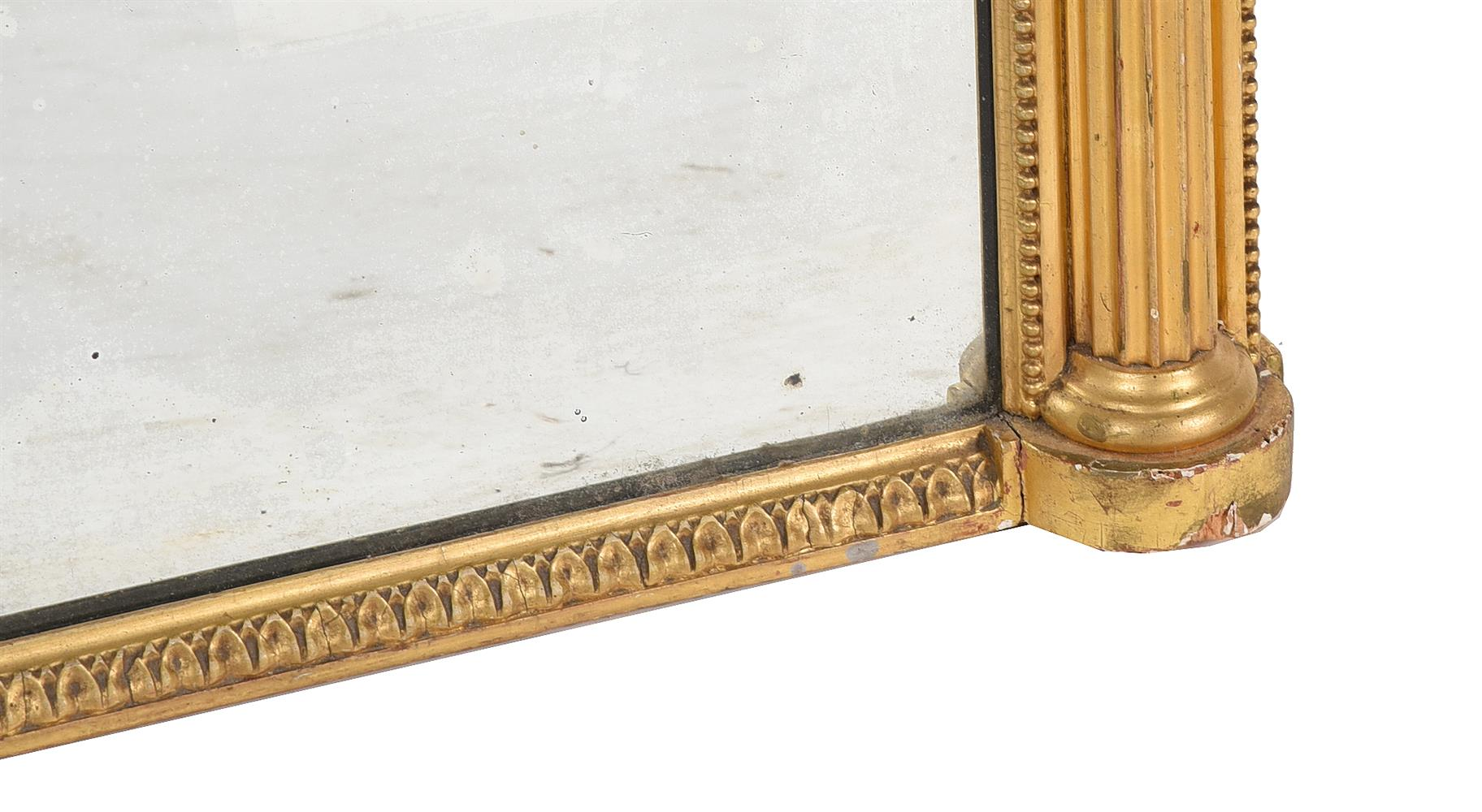 A PAIR OF GEORGE III GILTWOOD AND CREAM PAINTED WALL MIRRORS, CIRCA 1800 - Image 4 of 4