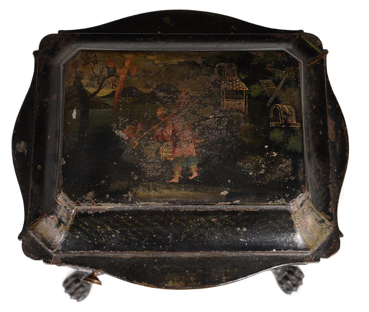 A REGENCY TOLEWARE PLATE WARMER, CIRCA 1815 - Image 3 of 3