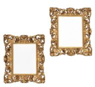 A PAIR OF ITALIAN GILTWOOD WALL MIRRORS, PROBABLY FLORENTINE, 19TH CENTURY