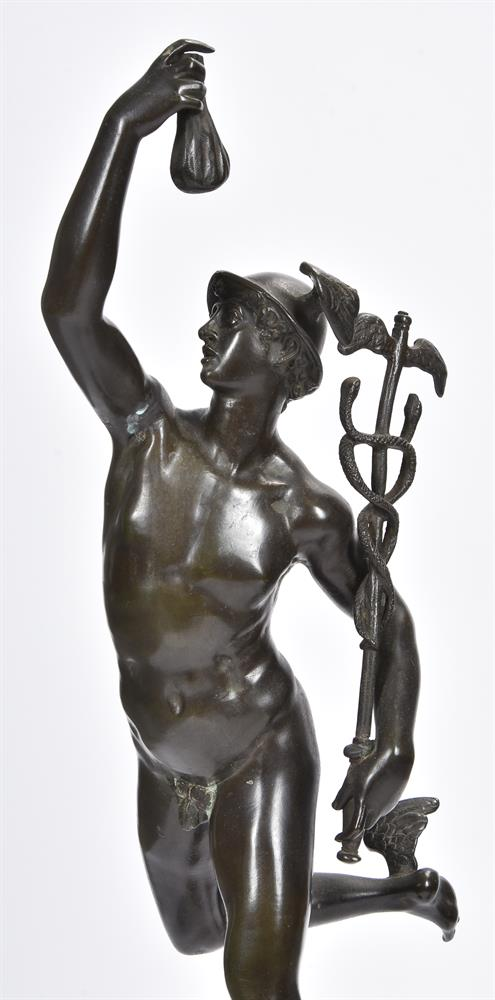 AFTER GIAMBOLOGNA, A PAIR OF BRONZE FIGURES OF MERCURY AND FORTUNA, SECOND HALF 19TH CENTURY - Image 3 of 7