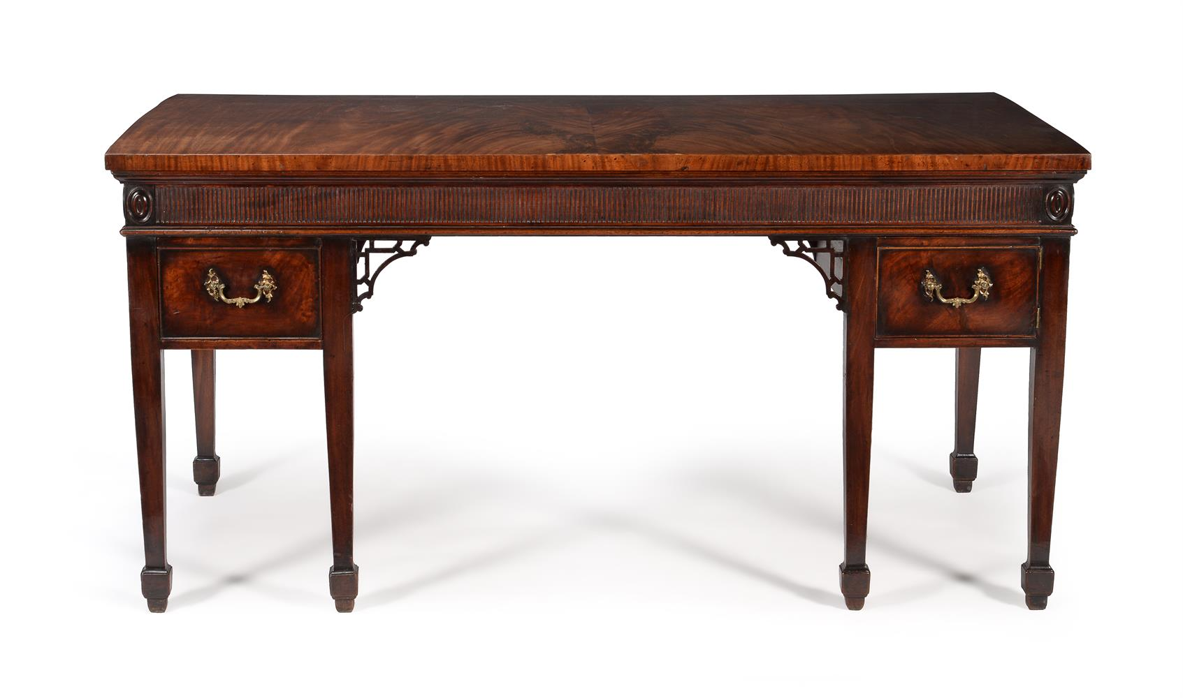 A GEORGE III MAHOGANY SERVING TABLE, CIRCA 1790 - Image 4 of 6