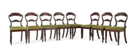 A SET OF EIGHT WILLIAM IV MAHOGANY DINING CHAIRS, CIRCA 1835, ATTRIBUTED TO GILLOWS