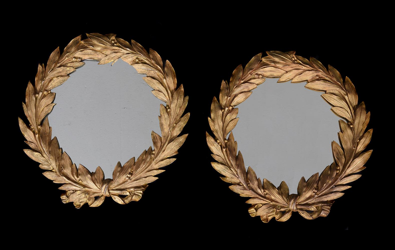A PAIR OF CONTINENTAL ORMOLU WALL MIRRORS, PROBABLY FRENCH, LATE 19TH/ EARLY 20TH CENTURY