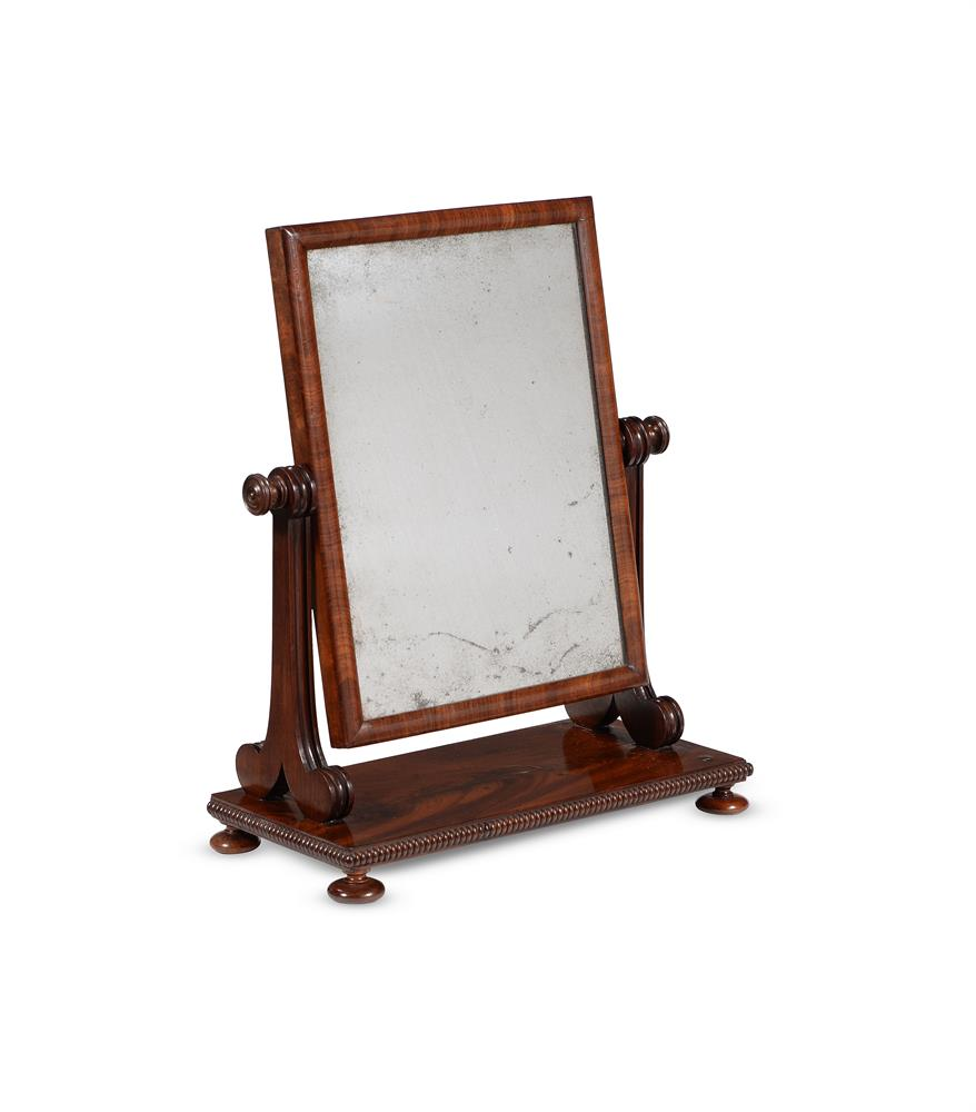 A GEORGE IV MAHOGANY DRESSING MIRROR, CIRCA 1825, ATTRIBUTED TO GILLOWS
