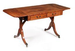 A REGENCY MAHOGANY SOFA TABLE, CIRCA 1815