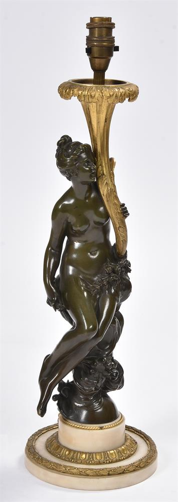 AFTER CORNELIUS VON CLEVE, A BRONZE AND ORMOLU FIGURAL TABLE LAMP, SECOND HALF 19TH CENTURY - Image 2 of 8