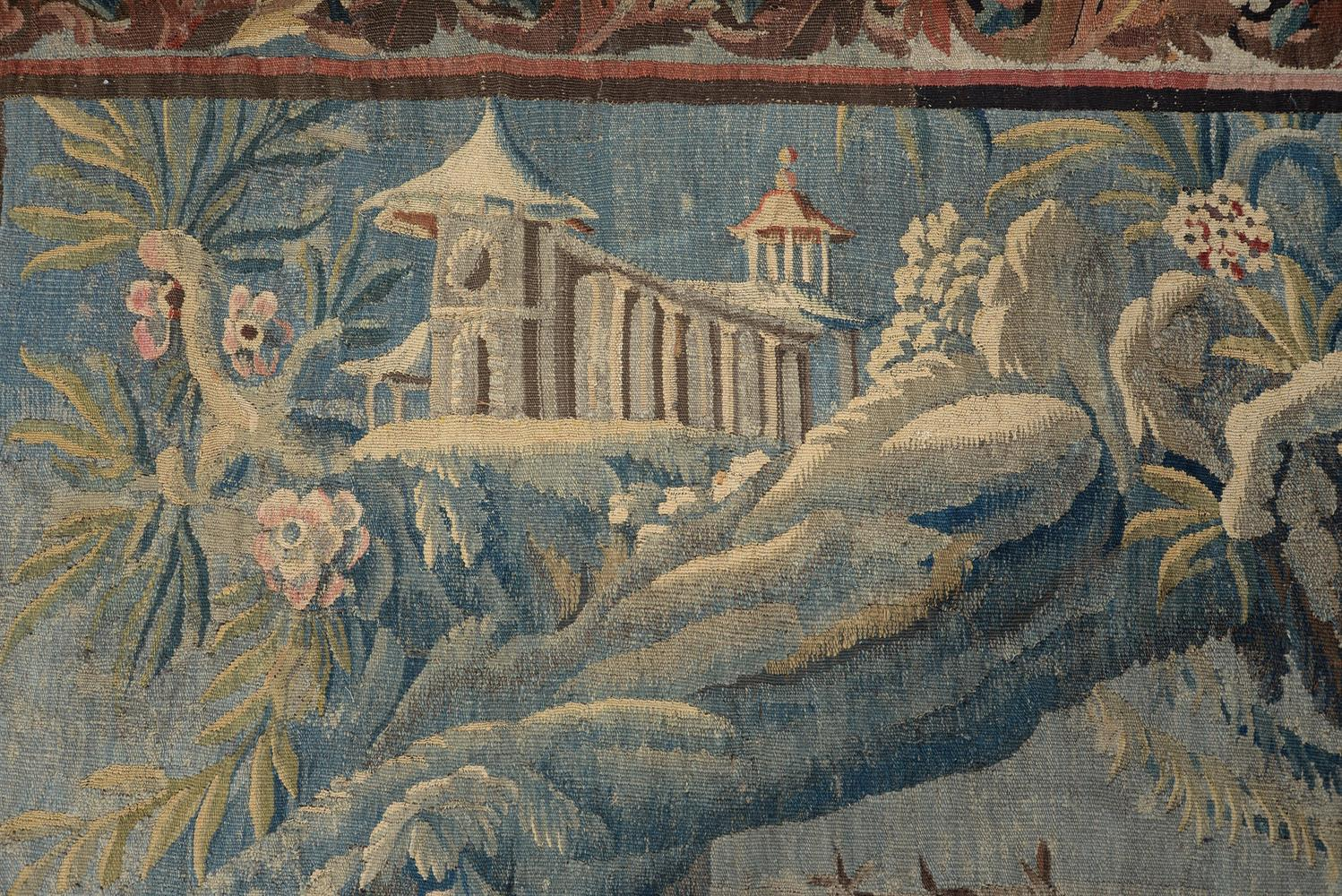 A FRENCH EXOTIC CHINOISERIE LANDSCAPE TAPESTRY, MID-18TH CENTURY - Image 2 of 6