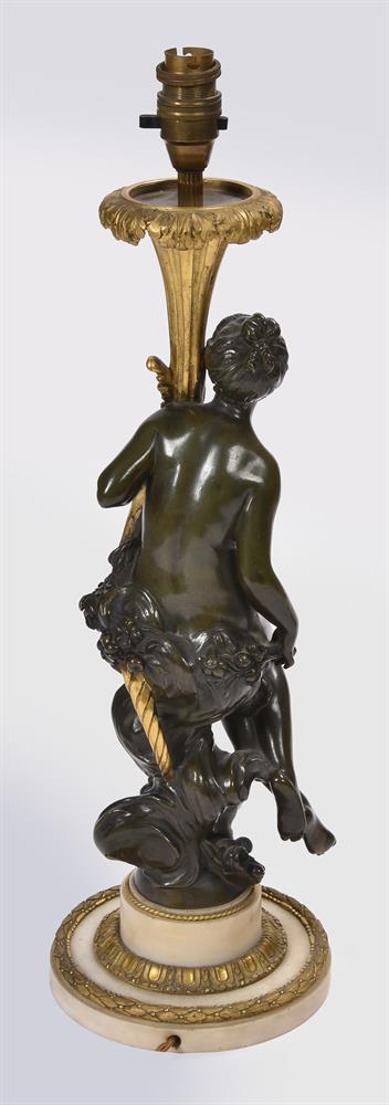 AFTER CORNELIUS VON CLEVE, A BRONZE AND ORMOLU FIGURAL TABLE LAMP, SECOND HALF 19TH CENTURY - Image 8 of 8