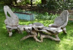 A SUITE OF ELM 'GROTTO' FURNITURE, 20TH CENTURY