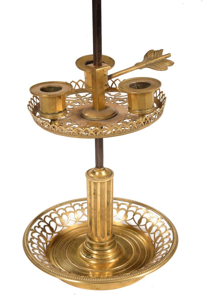 A DIRECTOIRE ORMOLU BOUILLOTTE LAMP, LATE 18TH/EARLY 19TH CENTURY - Image 2 of 3