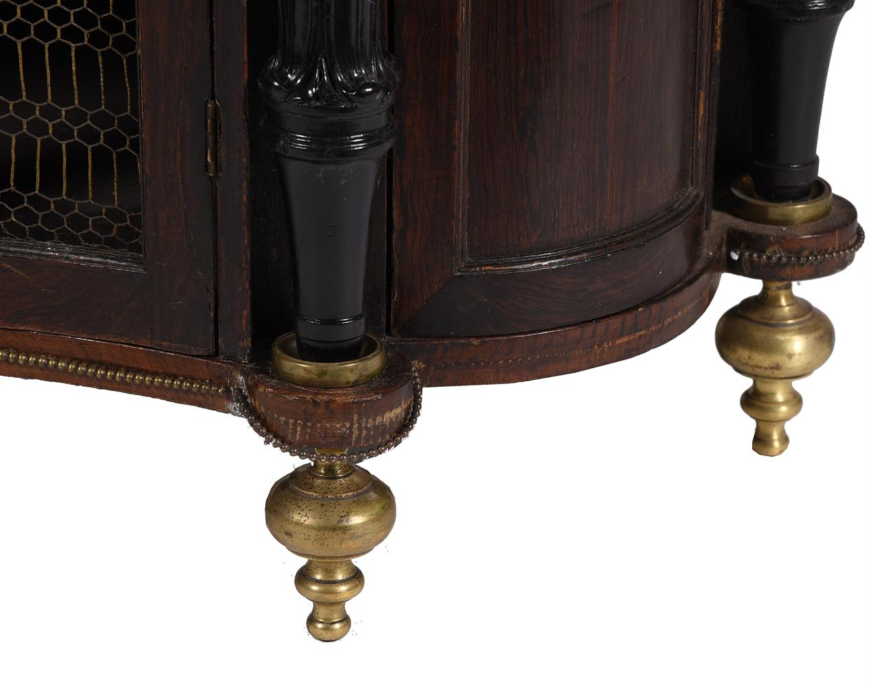 A REGENCY SIMULATED ROSEWOOD, EBONISED AND GILT METAL MOUNTED SIDE CABINET, CIRCA 1820 - Image 3 of 4
