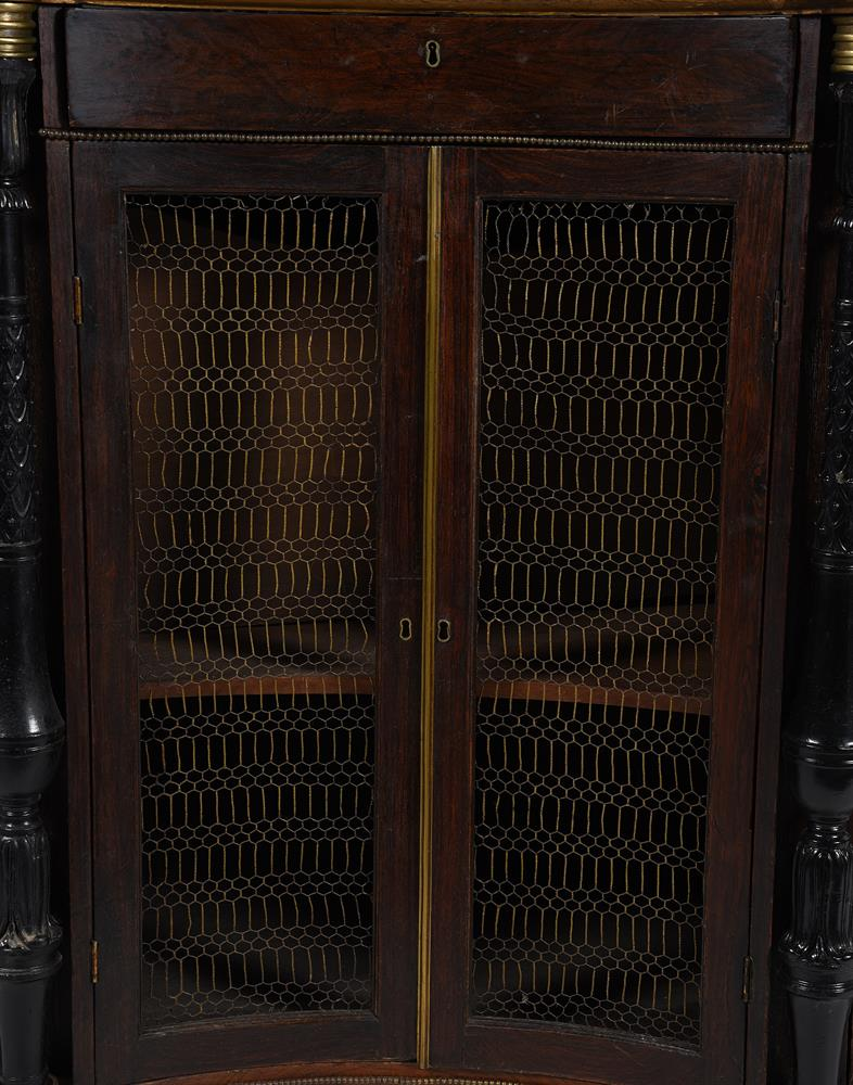 A REGENCY SIMULATED ROSEWOOD, EBONISED AND GILT METAL MOUNTED SIDE CABINET, CIRCA 1820 - Image 4 of 4