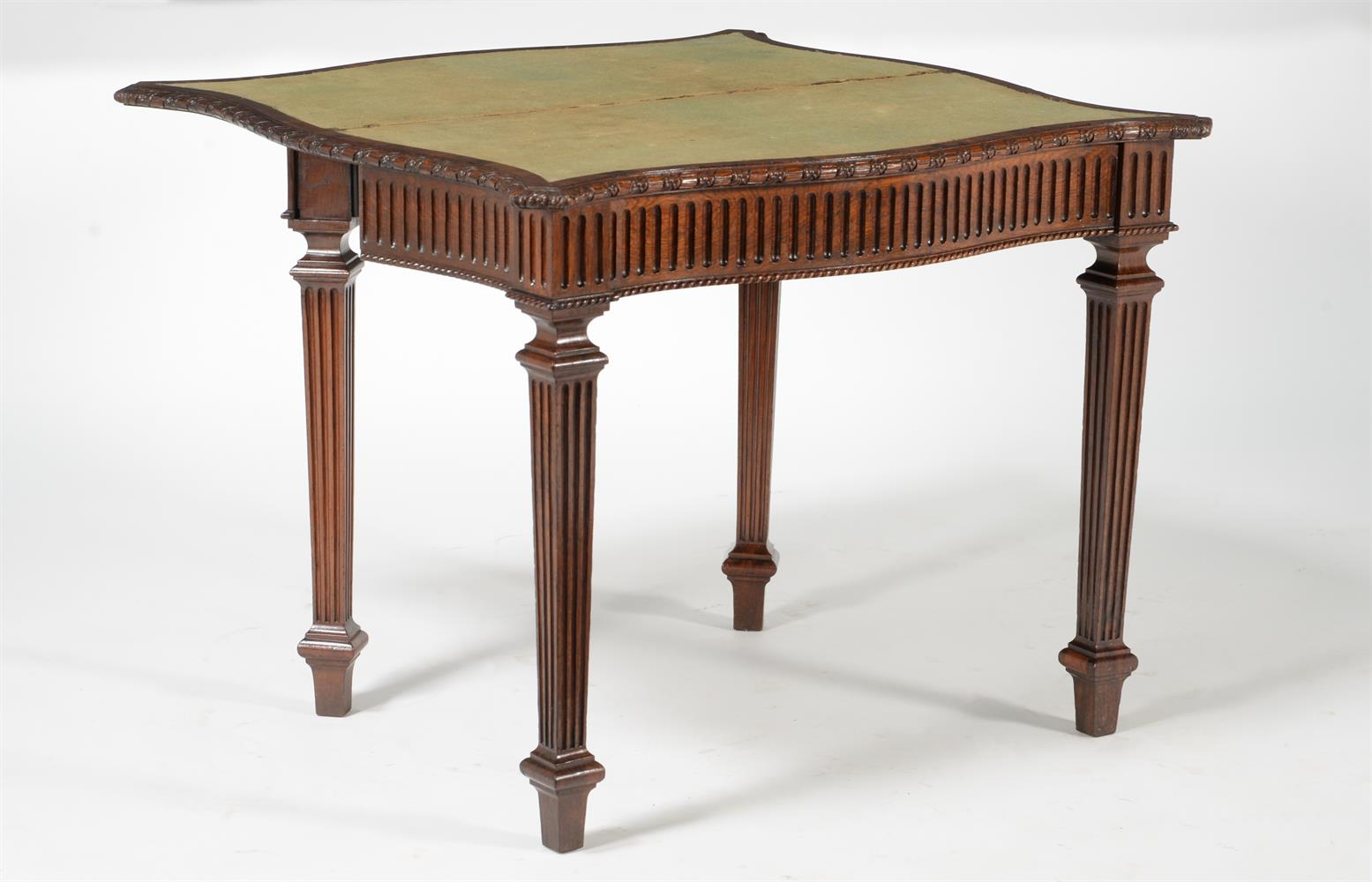 Y A GEORGE IV ROSEWOOD SERPENTINE FOLDING CARD TABLE, CIRCA 1825 - Image 4 of 5