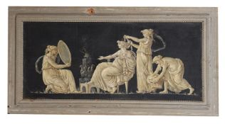 A PAIR OF EN GRISAILLE PAINTED PANELS, CIRCA 1800-1820