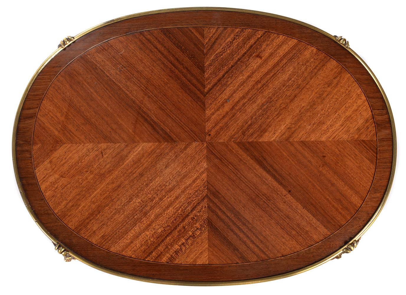Y A FRENCH MAHOGANY, TULIPWOOD AND ORMOLU MOUNTED TWO TIER OCCASIONAL TABLE, BY GERVAIS DURAND - Image 2 of 4