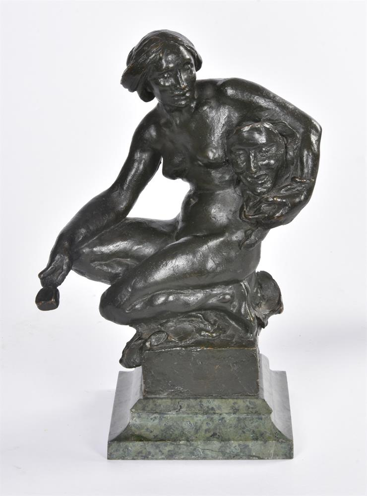 ALFRED DRURY (1856-1944), A PAIR OF BRONZE FEMALE FIGURES OF DRAMA AND LITERATURE - Image 2 of 6