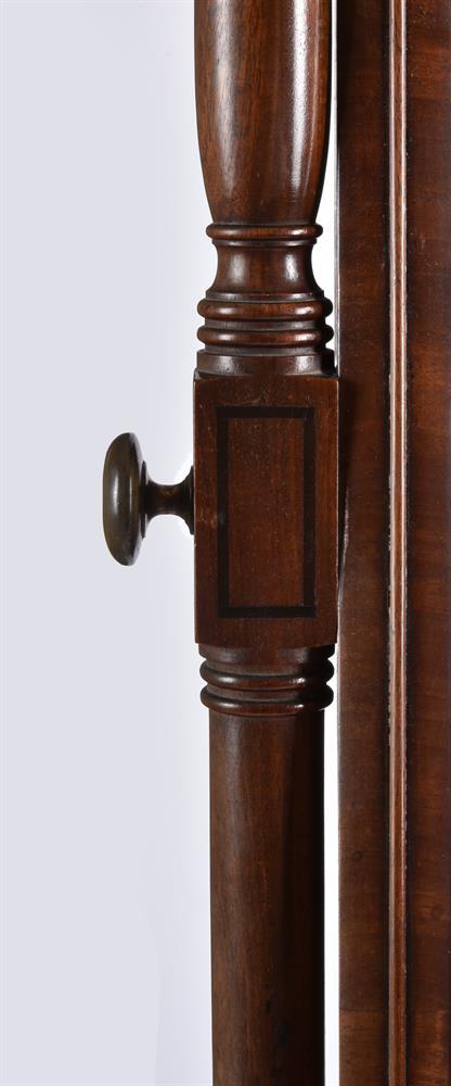 A GEORGE IV MAHOGANY CHEVAL MIRROR, CIRCA 1825 - Image 3 of 4
