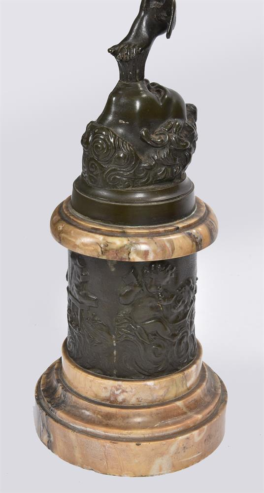 AFTER GIAMBOLOGNA, A PAIR OF BRONZE FIGURES OF MERCURY AND FORTUNA, SECOND HALF 19TH CENTURY - Image 6 of 7