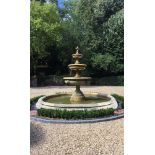 A LARGE COMPOSITION FOUR TIER FOUNTAIN, IN 19TH CENTURY STYLE, PROBABLY 20TH CENTURY