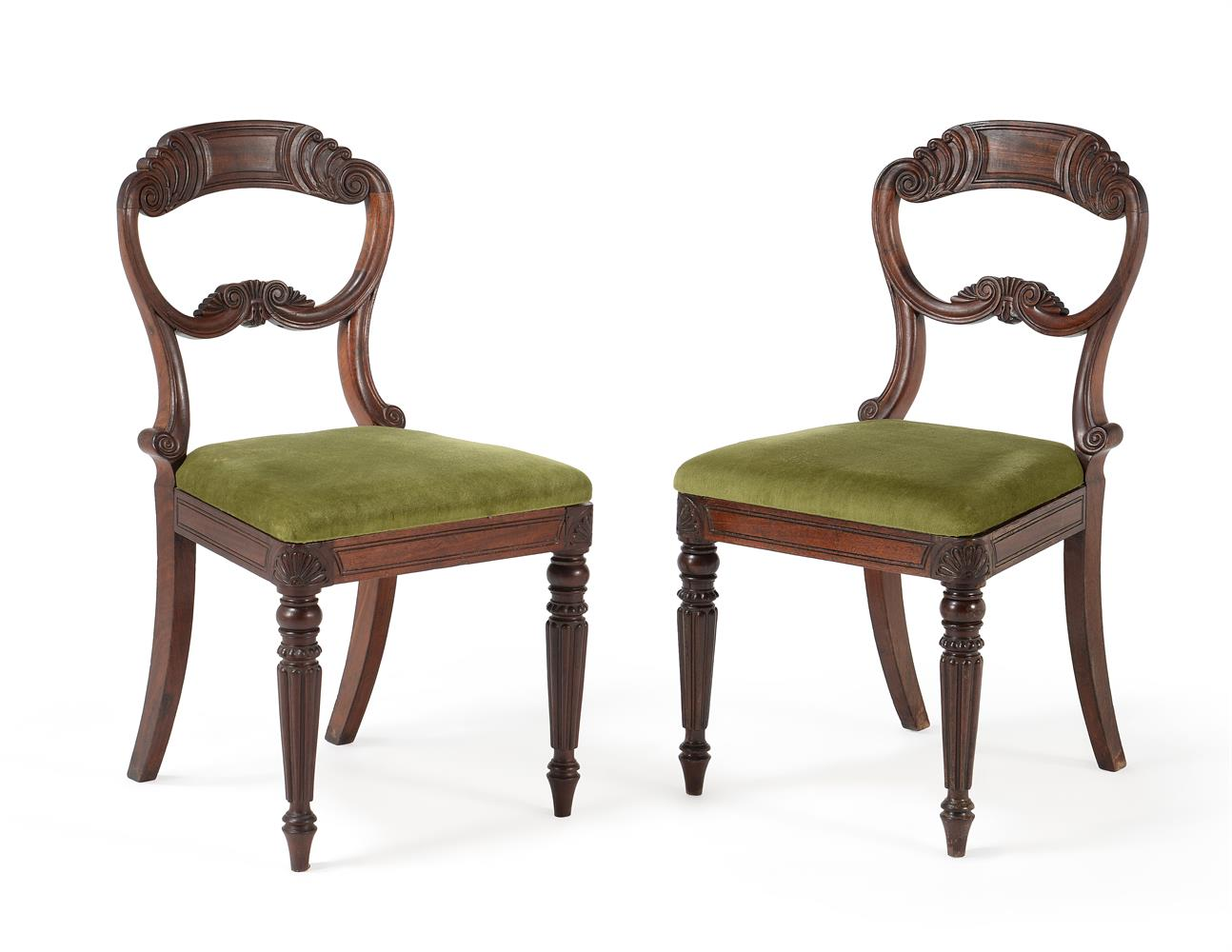 A SET OF EIGHT WILLIAM IV MAHOGANY DINING CHAIRS, CIRCA 1835, ATTRIBUTED TO GILLOWS - Image 2 of 9