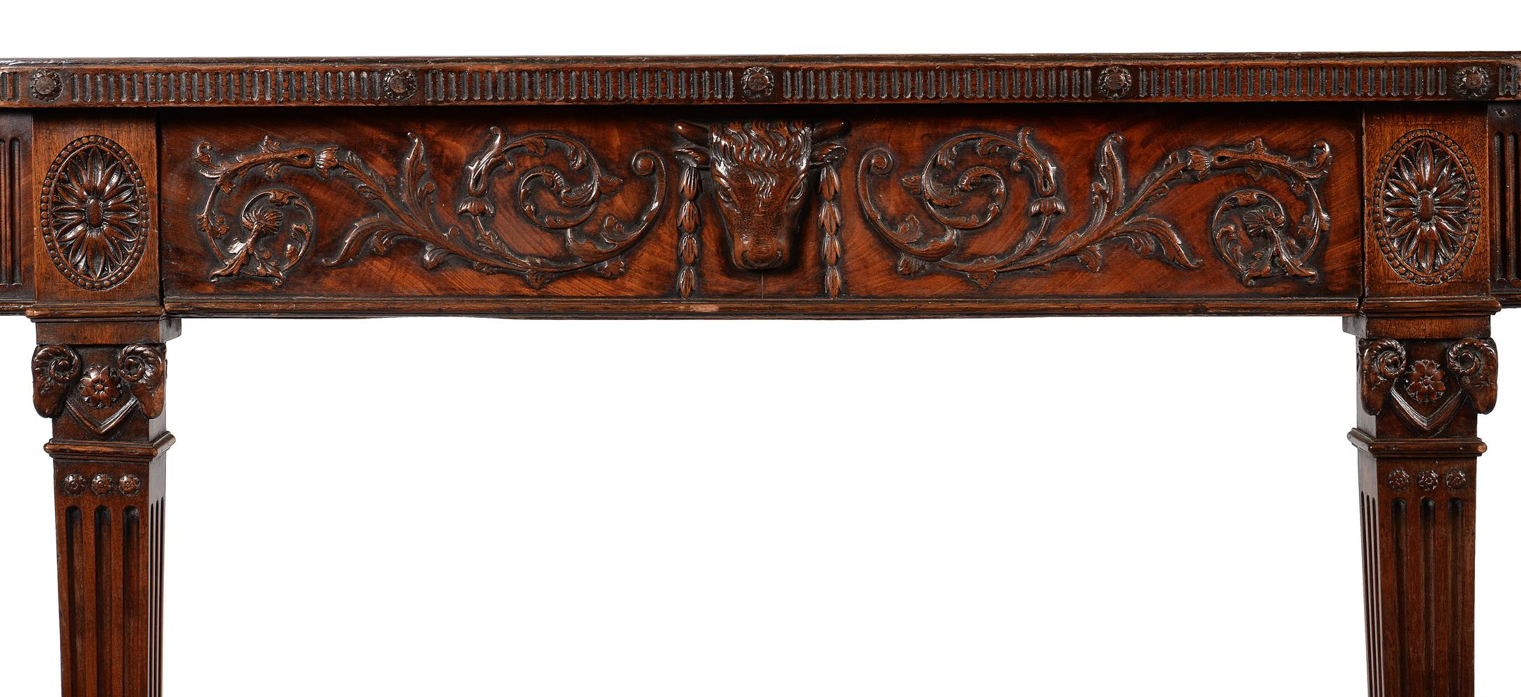 A GEORGE III MAHOGANY SERVING OR HALL TABLE, CIRCA 1785 - Image 5 of 6
