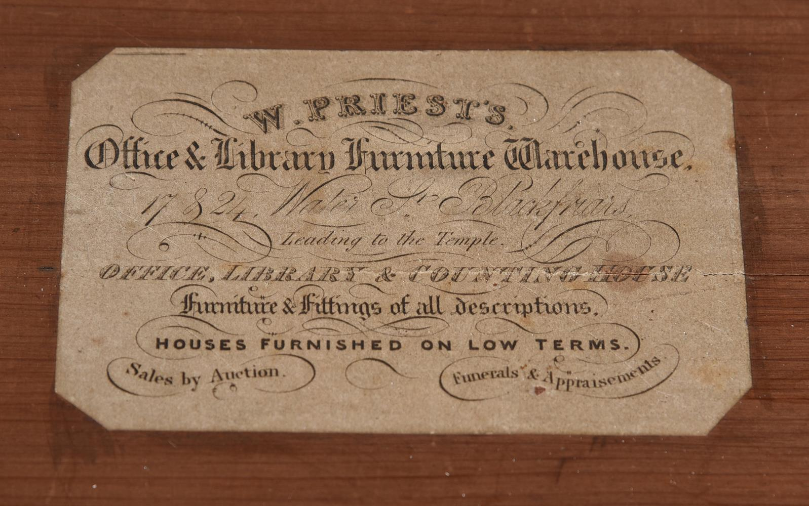 Y A WILLIAM IV ROSEWOOD CANTERBURY, CIRCA 1835 - Image 5 of 6
