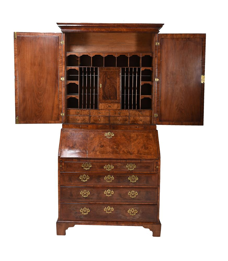 A GEORGE II WALNUT BUREAU BOOKCASE, CIRCA 1740, IN THE MANNER OF GILES GRENDEY - Image 3 of 9