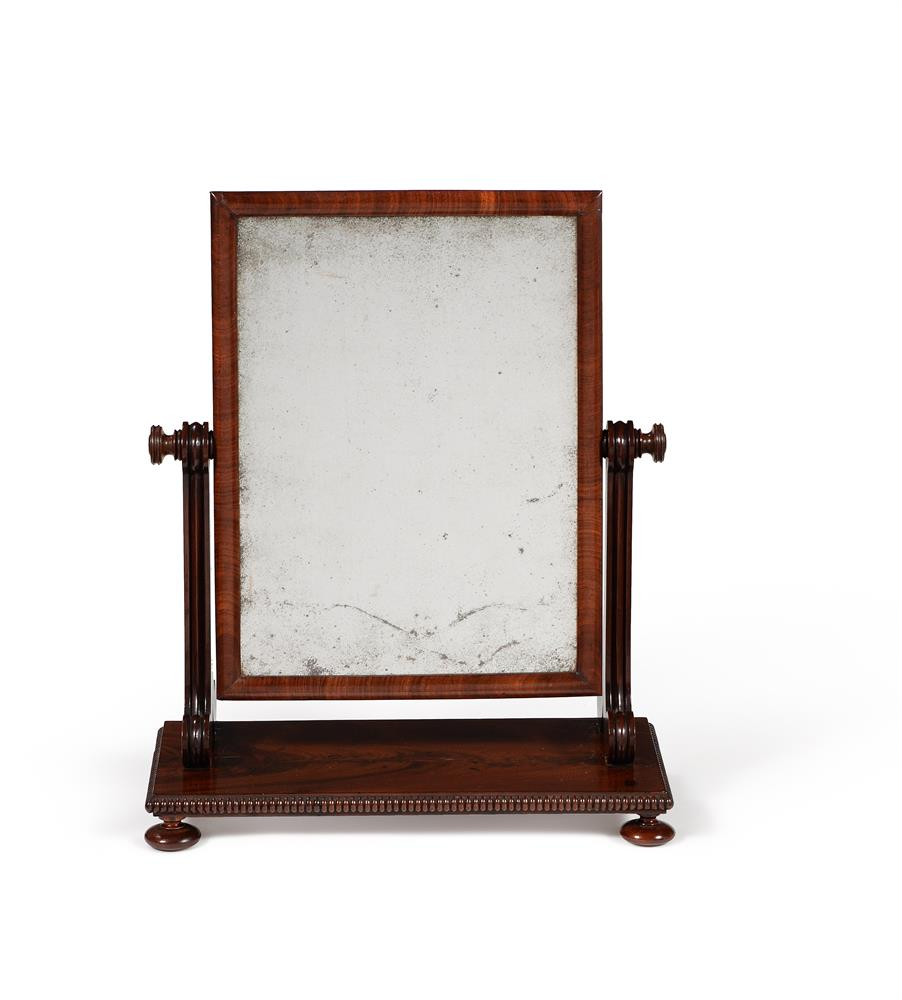 A GEORGE IV MAHOGANY DRESSING MIRROR, CIRCA 1825, ATTRIBUTED TO GILLOWS - Image 2 of 2