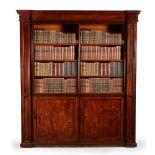 A MAHOGANY LIBRARY BOOKCASE, CIRCA 1835 AND LATER ADAPTED