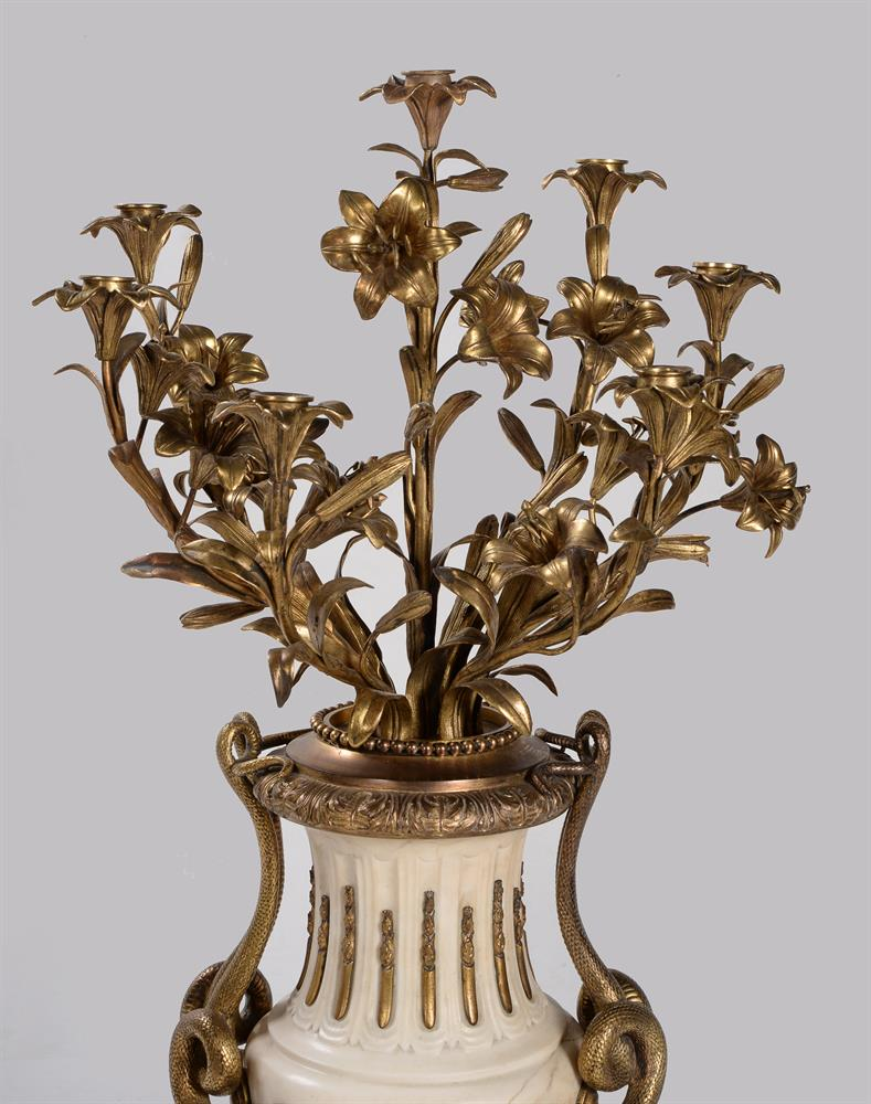 A PAIR OF FRENCH MARBLE AND ORMOLU SEVEN LIGHT CANDELABRA, CIRCA 1860 - Image 3 of 6
