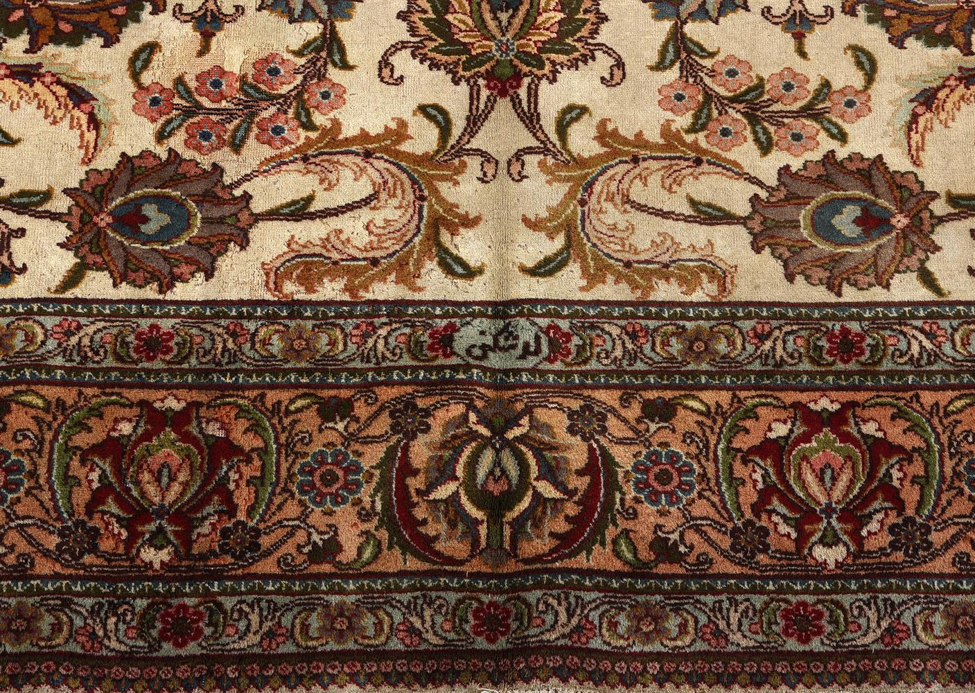A TABRIZ CARPET, approximately 426 x 320 cm - Image 3 of 3