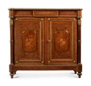 Y A FRENCH KINGWOOD, PARQUETRY, MARQUETRY AND GILT METAL MOUNTED SIDE CABINET, CIRCA 1875