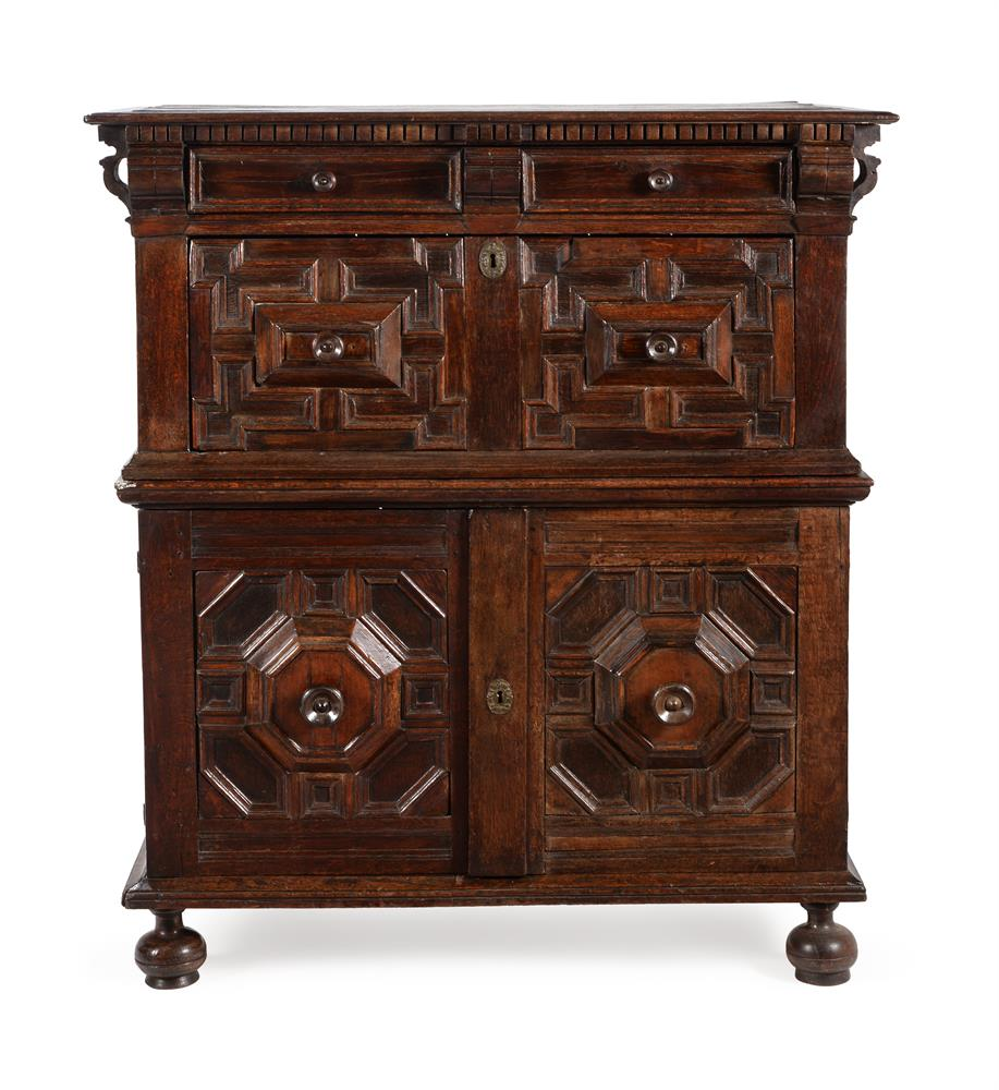A CHARLES II OAK AND SNAKEWOOD CHEST OF DRAWERS, CIRCA 1680