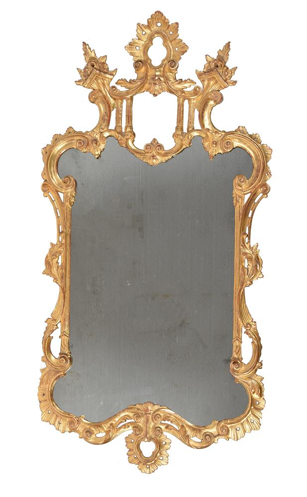 A GEORGE III GILTWOOD WALL MIRROR, CIRCA 1775