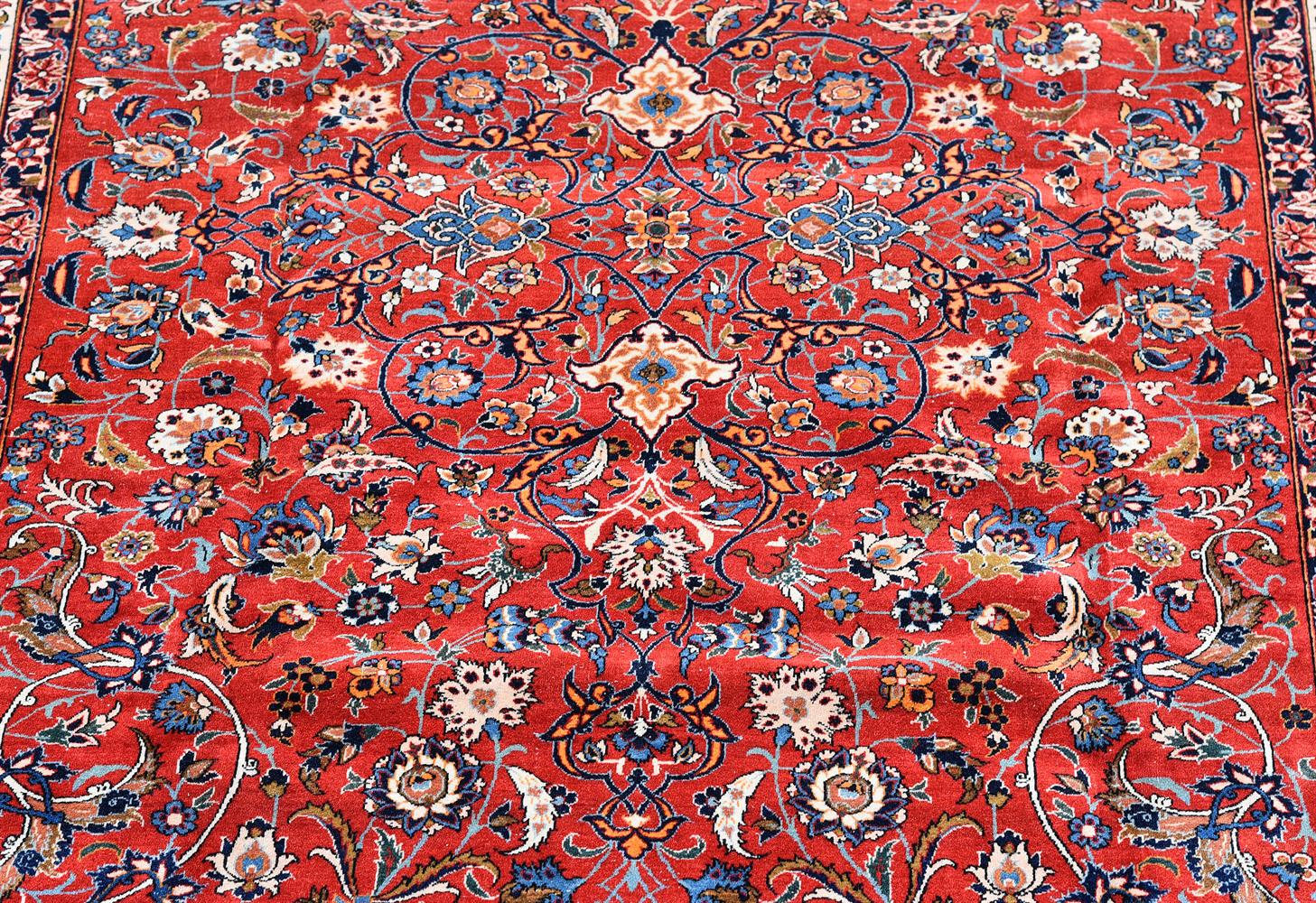 AN ISFAHAN CARPET, approximately 338 x 229cm - Image 2 of 3