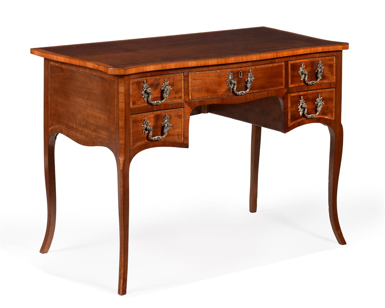 Y A GEORGE III MAHOGANY AND TULIPWOOD CROSSBANDED DRESSING TABLE, CIRCA 1785 - Image 3 of 4