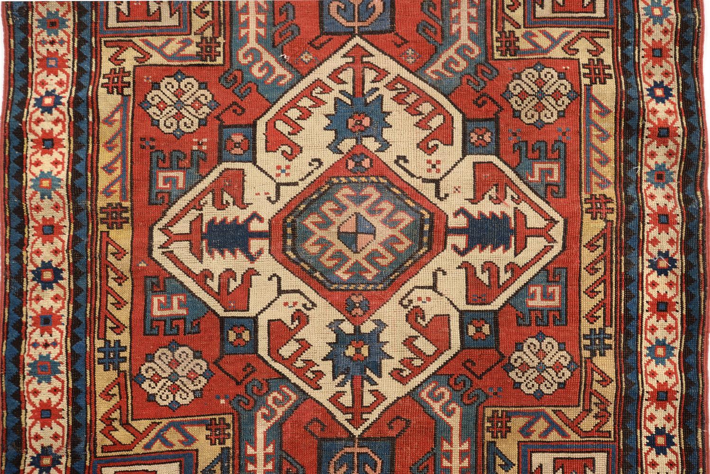 A KAZAK RUG, approximately 217 x 116cm - Image 2 of 3