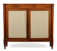 Y A REGENCY ROSEWOOD AND PARTRIDGE WOOD CROSSBANDED SIDE CABINET, CIRCA 1815