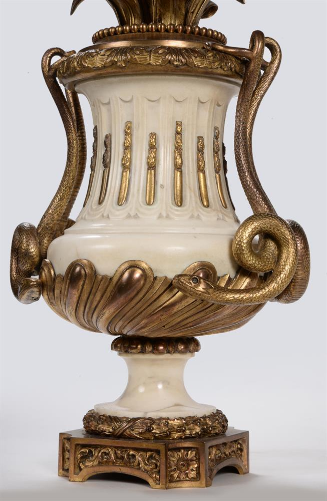 A PAIR OF FRENCH MARBLE AND ORMOLU SEVEN LIGHT CANDELABRA, CIRCA 1860 - Image 2 of 6