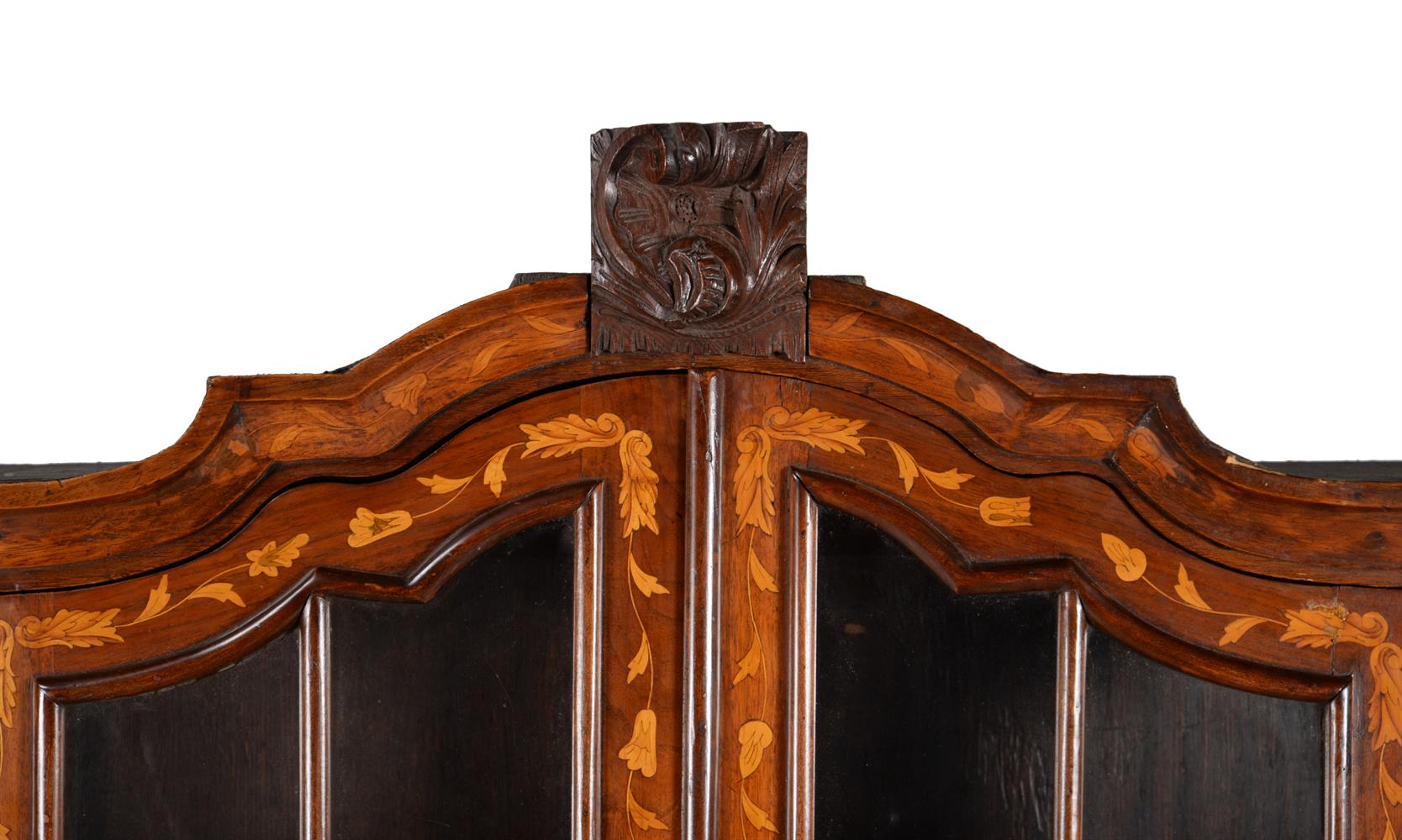 A DUTCH WALNUT AND MARQUETRY INLAID CABINET ON CHEST, LATE 18TH CENTURY - Image 2 of 4