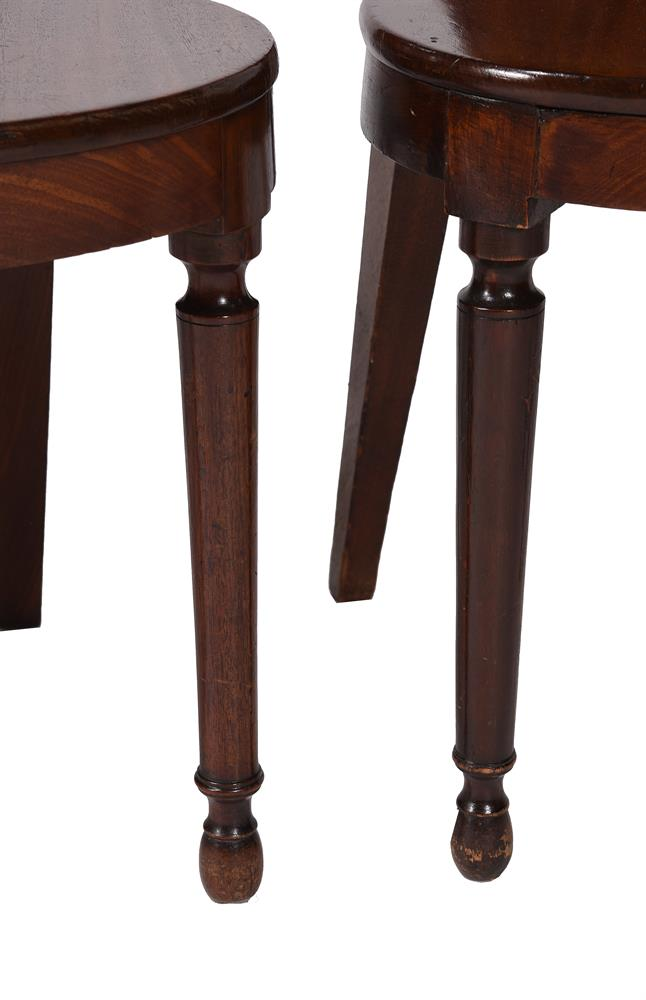 A SET OF FOUR LATE GEORGE III MAHOGANY HALL CHAIRS, CIRCA 1810 - Image 3 of 3