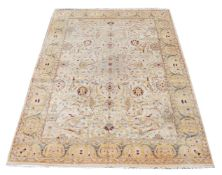 A WOVEN CARPET, IN THE AGRA STYLE, approximately 368 x 270cm