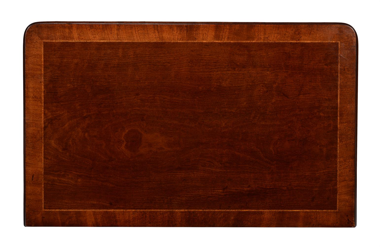 A GEORGE II MAHOGANY AND ASH BANDED SIDE TABLE OR LOWBOY, CIRCA 1750 - Image 2 of 4
